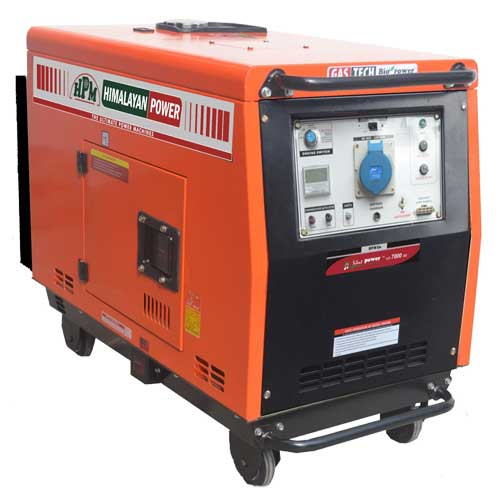 single phase silent diesel portable generator by HPM